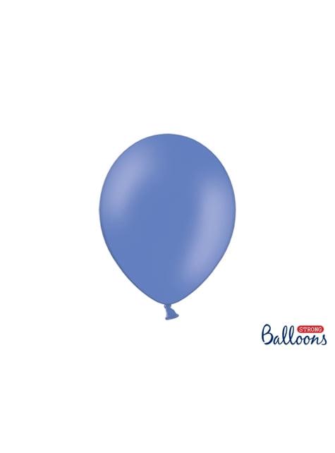 100 balões extra resistentes azul cobalto metalizado (27cm)