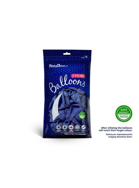 100 globos extra resistentes azul marengo metalizado (27 cm)