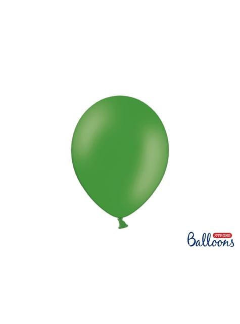 10 błyszczące szmaragdowo-zielone balony extra mocne (27cm)