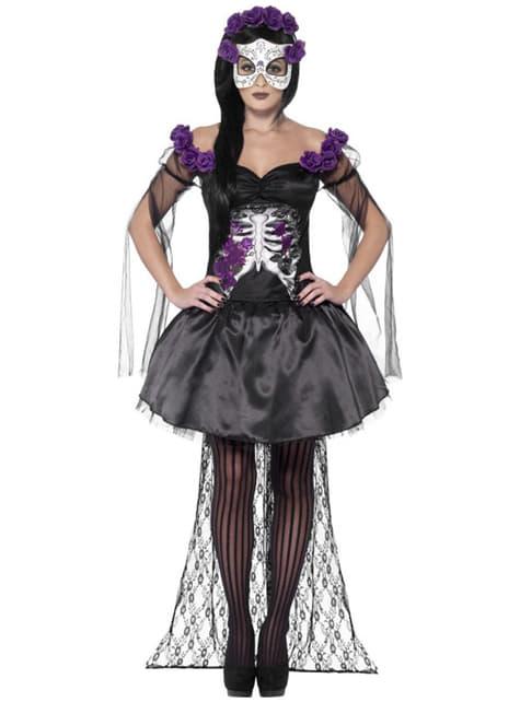 Dag van de doden kostuum voor dames