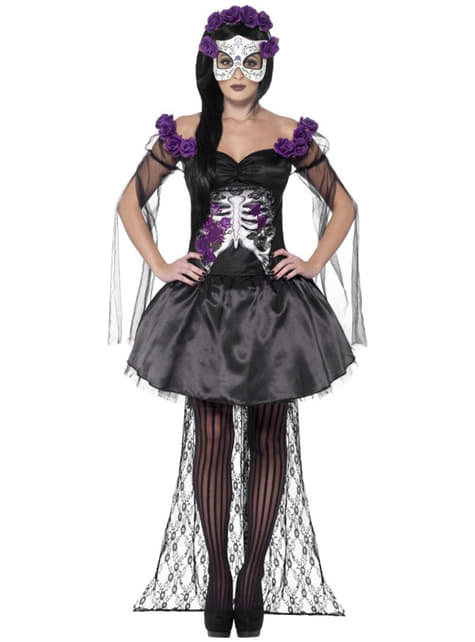 Disfraz de Catrina Día de los Muertos sexy para mujer