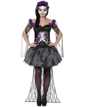 Disfraz De Catrina Traje Calavera Mexicana Para Halloween