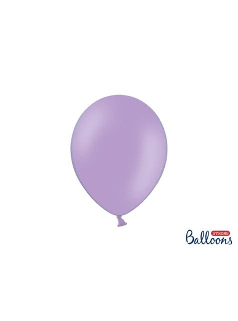 100 balões extra resistentes lavanda metalizado (27cm)