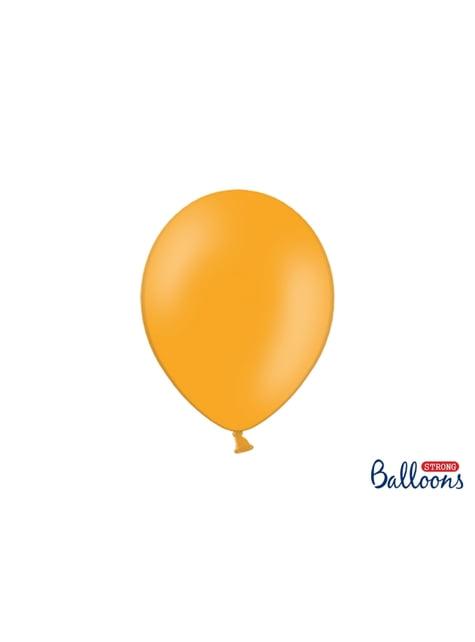 100 extra silných balonků pastelově světle oranžových (27 cm)