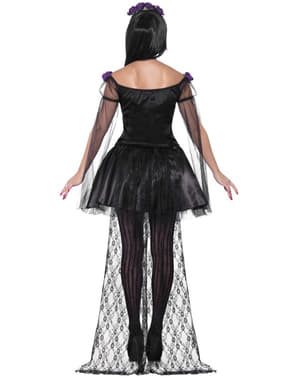 Costum domnișoară ziua morții sexy pentru femeie