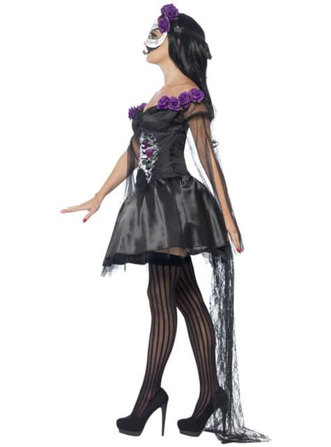 Disfraz de Catrina Día de los Muertos sexy para mujer - original