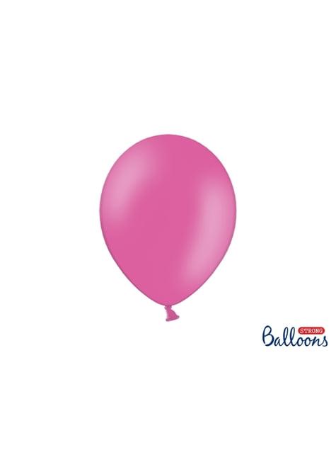 100 sterke ballonnen in roze, 27 cm