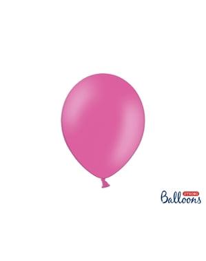 Metalik Pembe 10 Güçlü Balonlar, 27 cm