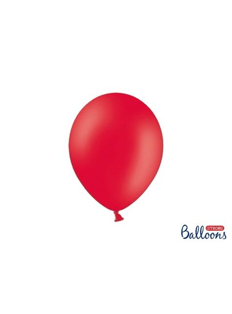 100 Luftballons extra stark metallic-korallenrot (27 cm)