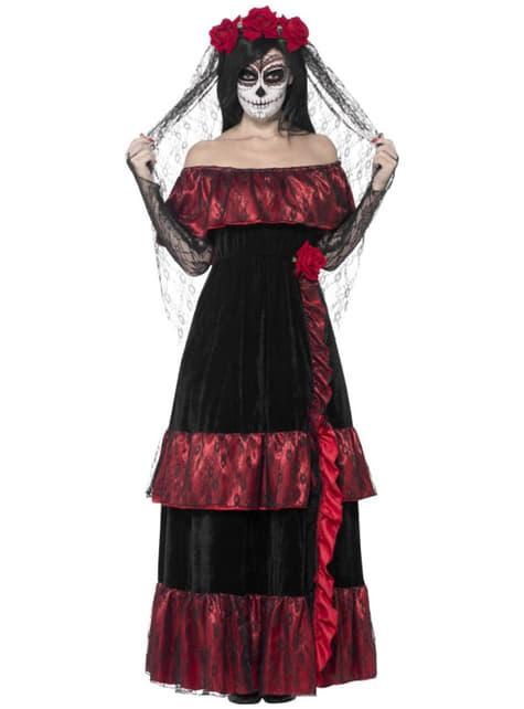 Disfraz de Catrina deluxe para mujer