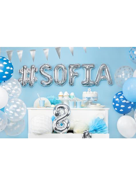 100 silných balónků v bílé barvě, 27 cm