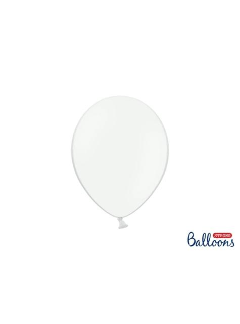 10 balões extra resistentes brancos (27cm)