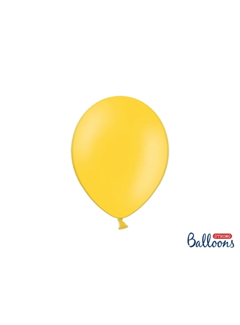 10 ballons extra résistants jaune métallisé (27 cm)