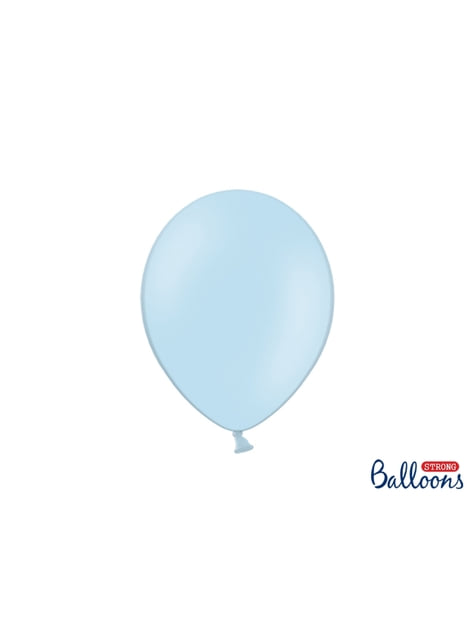 100 ballons extra résistants 27 cm bleu pastel