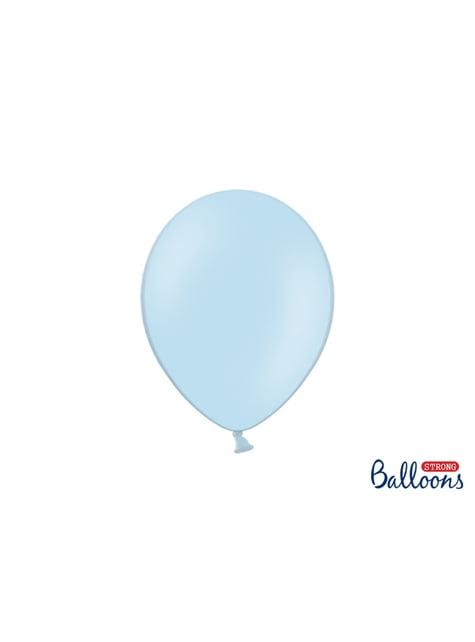 10 globos extra resistentes azul pastel (27 cm)