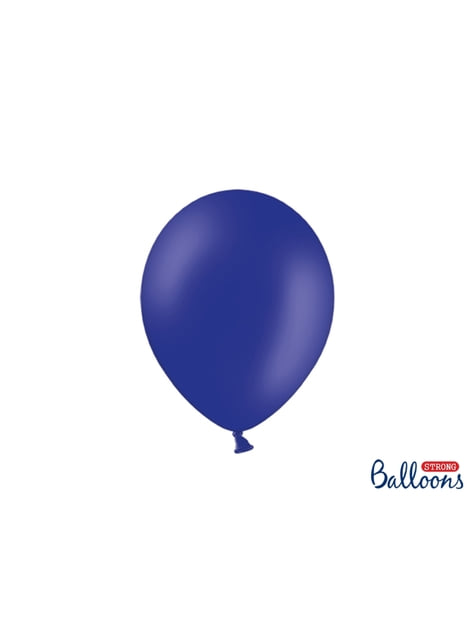 10 globos extra resistentes azul eléctrico metalizado (27 cm)