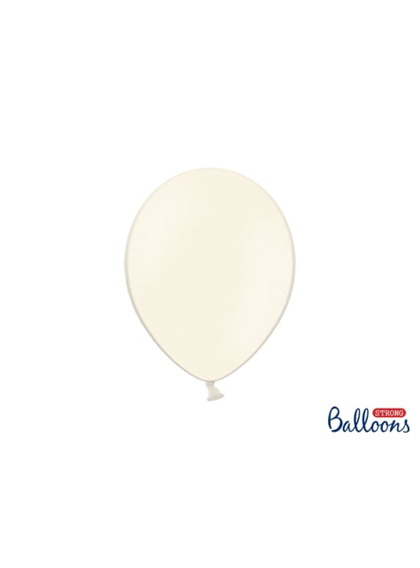 100 globos extra resistentes beige pastel (27 cm)