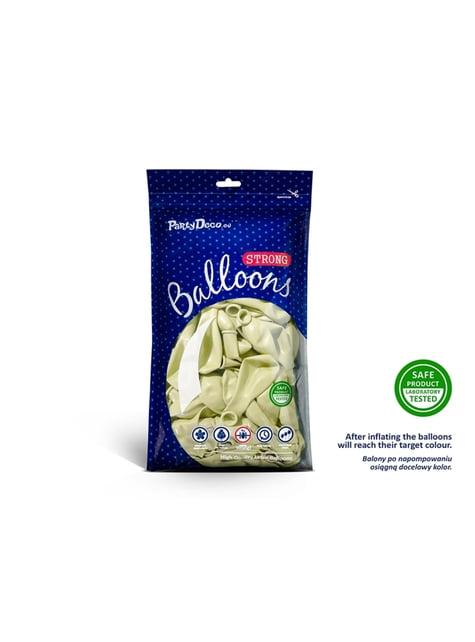 100 palloncini extra resistenti beige pastello (27 cm)
