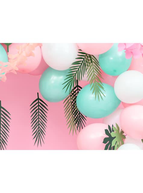 100 sterke ballonnen in pastel roze, 27 cm