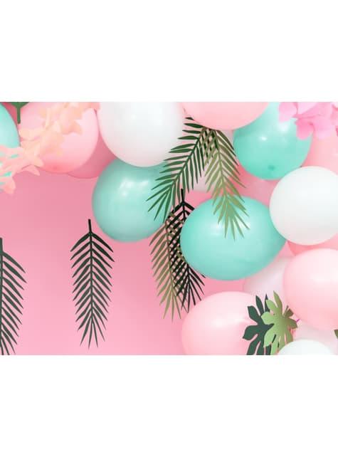 10 balões extra resistentes cor-de-rosa bebé metalizado (27cm)