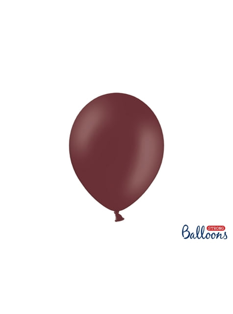 10 sterke ballonnen in Metallic Bordeaux, 27 cm