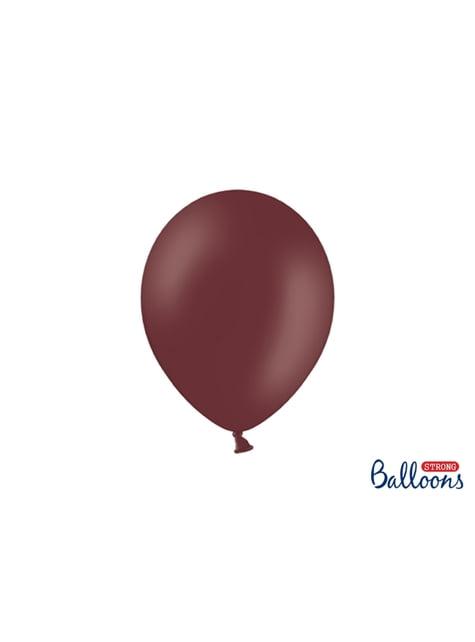 10 Strong Balloons in Metallic Burgundy, 27 cm