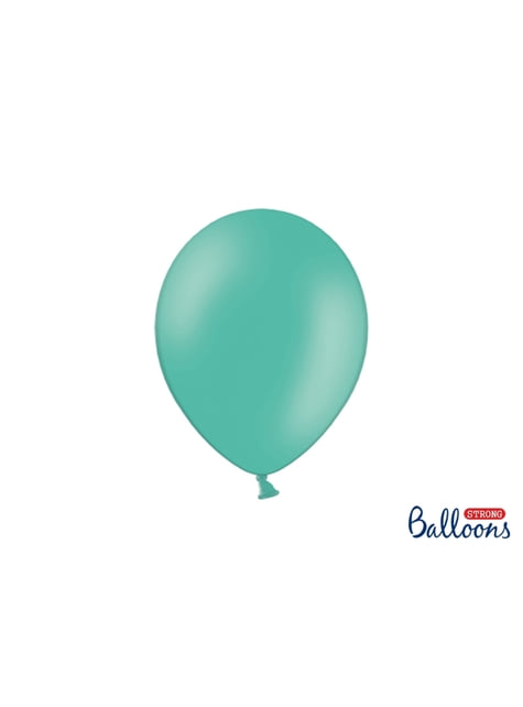 100 extra silných balonků metalicky pastelově akvamarínových (27 cm)