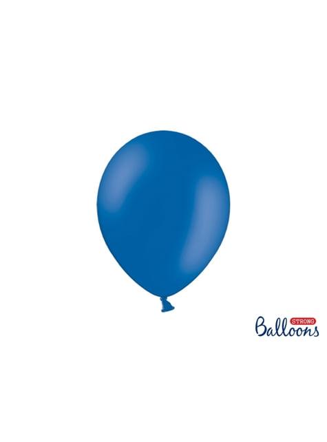 100 globos extra resistentes azules metalizados (27 cm)