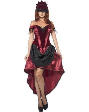 Verleidelijk Can Can danser kostuum voor dames