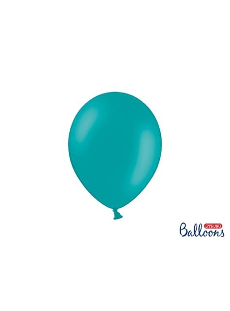 10 balões extra resistentes azul celeste metalizado (27cm)