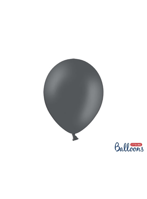 10 błyszczące pastelowo szare balony extra mocne (27cm)