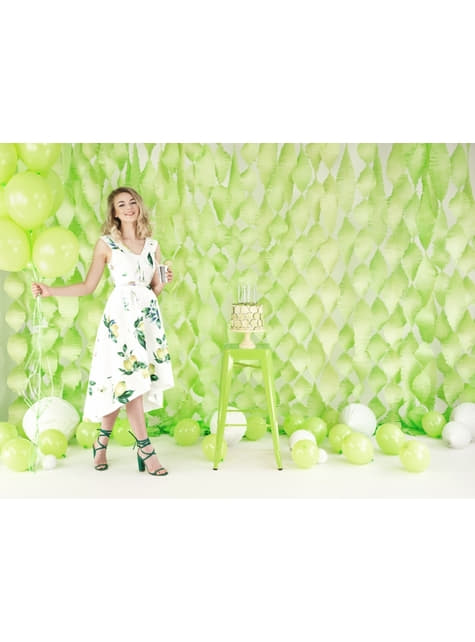 100 globos extra resistentes verde lima pastel (27 cm) - barato