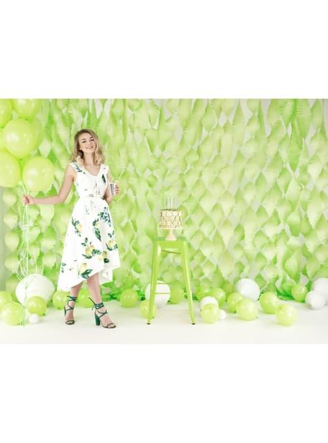 100 sterke ballonnen in limoen pastel groen, 27 cm
