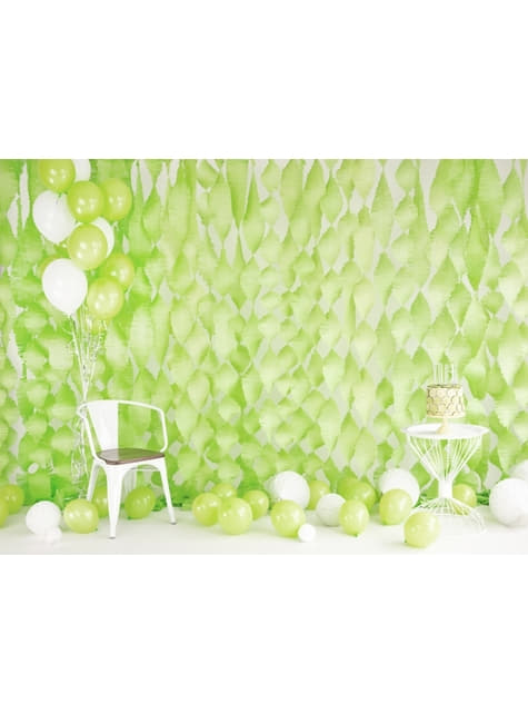 10 Strong Balloons in Metallic Lime Green (27 cm)