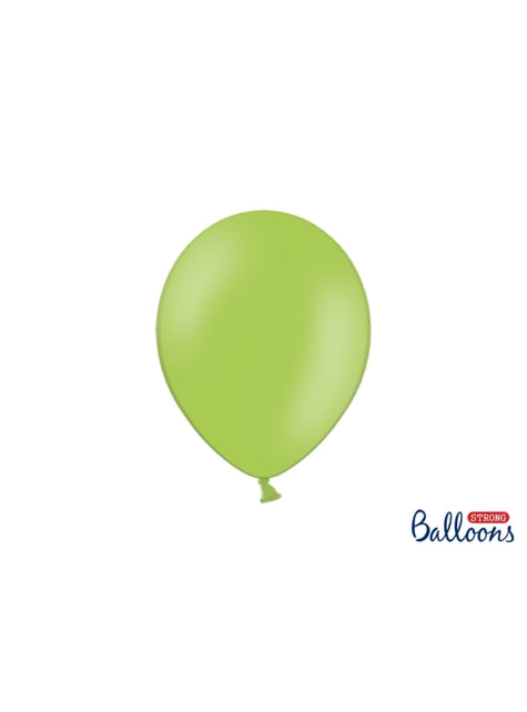 100 sterke ballonnen in helder pastel groen, 27 cm