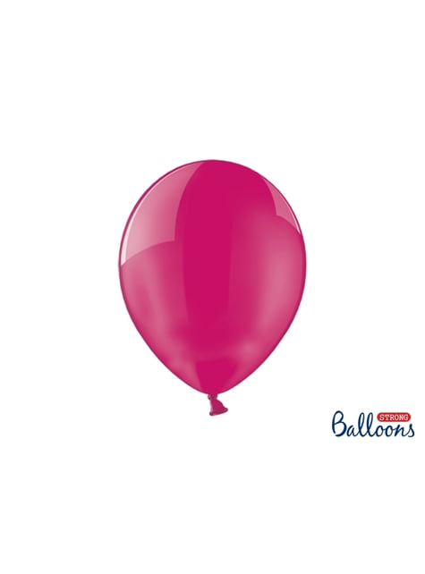 100 Luftballons extra stark rosa transparent (30 cm)