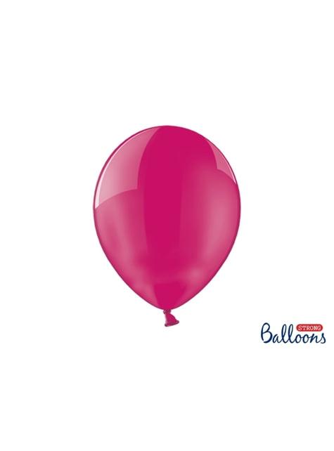 100 palloncini extra resistenti rosa effetto vetro (30 cm)