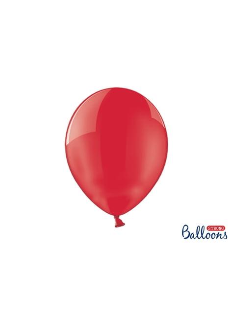 100 Luftballons extra stark korallenrot durchsichtig (30 cm)