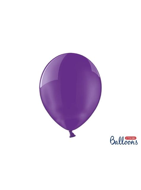 100 extra silných balonků průhledně fialkových (30 cm)