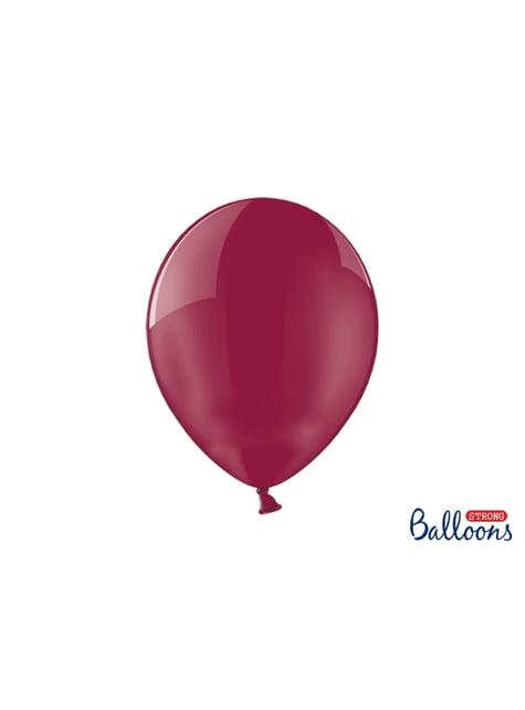 100 balões extra resistentes grená tipo cristal (30cm)