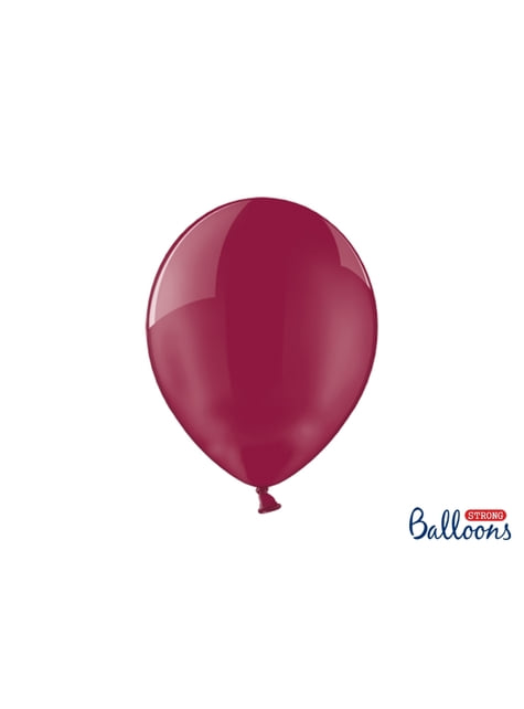100 palloncini extra resistenti granata effetto vetro (30 cm)