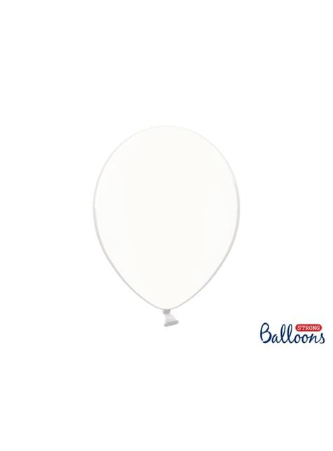 100 Luftballons extra stark cremefarben transparent (30 cm)