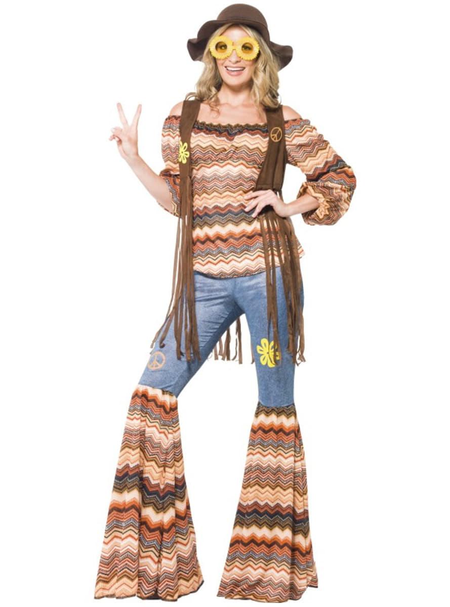 Vestiti hippie anni  60 🌼 Costumi figli dei fiori carnevale  ed0d72df788