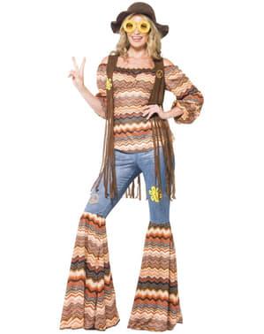 Disfraz de chica hippie para mujer