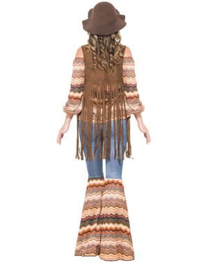 Fato de rapariga hippie com estilo para mulher