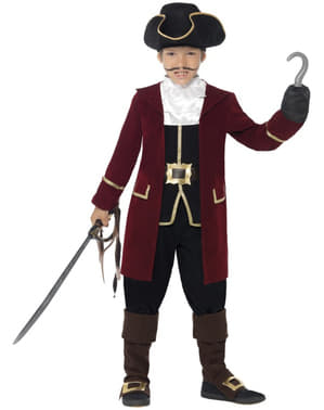 Pirat Kaptajn kostume til børn