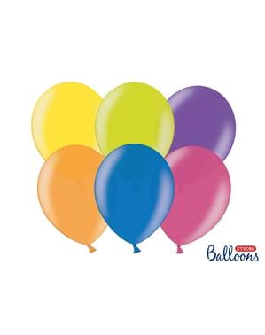 10 balões extra resistentes 30 cm sortidos metalizados