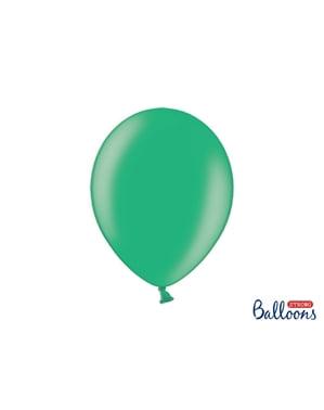 Metalik yeşil renkli 50 ekstra güçlü balon (30 cm)