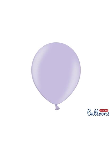 10 ballons extra résistants violet métallisés (30 cm)