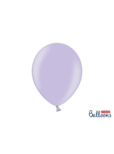 10 extra sterke ballonnen in metallic paars (30 cm)